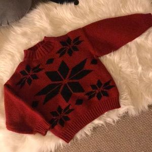 Apres ski vintage red sweater